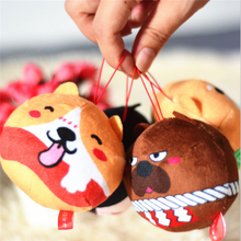 Wholesale Cute Gift Plush Stuffed Mini Husky Keychain Toy 10cm Soft Custom Plush Dog Keychain