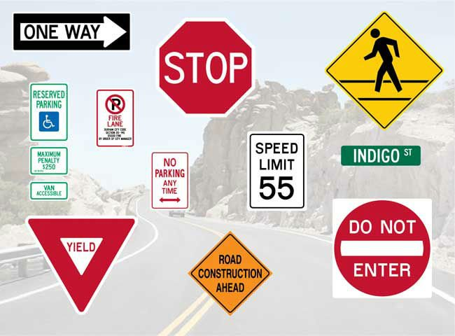 Cartons Packing street sign sign boards traffic signs