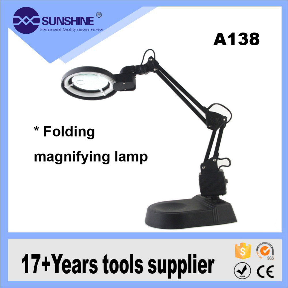 Multifuctional Folding Stand Table Led Magnifying Lamp Industrial With Light Head