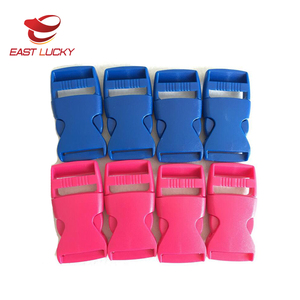 Wholesale plastic side release buckle for nylon webbing dog collar custom