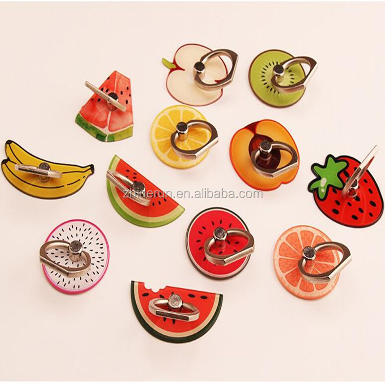 360 Rotating Ring Holder Stand Universal Style 3D Cartoon Fruit Summer Support Finger Bracket For Smart Phones