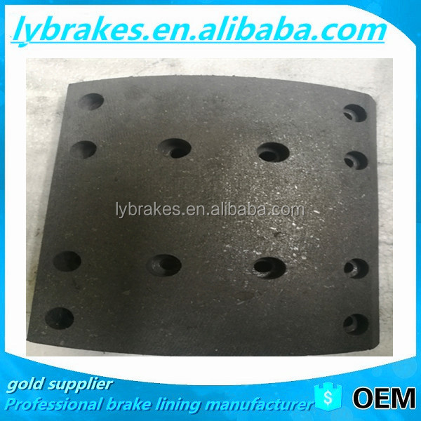 3552-00326 Hot selling!! truck moulded friction brake lining in brake system, for KingLong DongFeng Bus