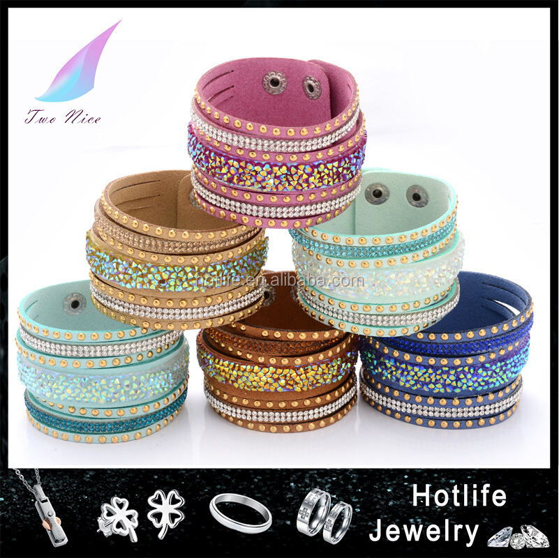2015 new design shiny style various colors ladies druzy bangle