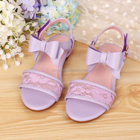 Cute and noble princess wholesale girls shoes for Summer 2015 flat sandal shoes kids lace bow shoes