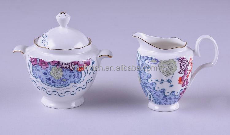 from TAOKMNA Royal tea sets bone china fine porcelain coffee pot pink country rose flower sugar pot