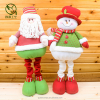 Colorful Standing christmas gift,Santa Claus Christmas snowman Fabric Christmas Decorations