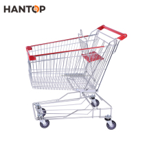 Supermarket trolley grocery shopping carts with plastic child seat HAN-AS100 510