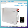 coasts 18kw 380v stahinless steel steam bath generator with Ce certificate