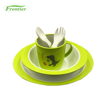 ECO-Friendly Safety Lovely Dinosaur Pattern PLA Baby Lunch Box Cutlery Set