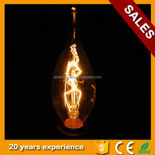 candle light style edison incandescent lamp edison filament, electric candle light edison bulb lamp