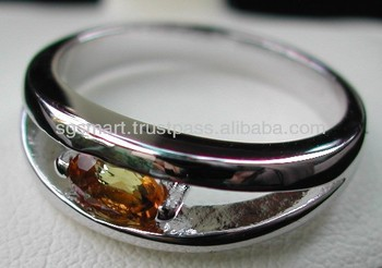 Silver 925 Gemstone Citrine Ring Jewelry Wholesale Factory in Thailand..!!