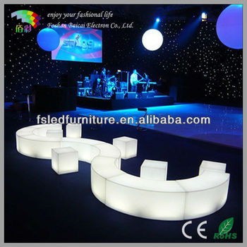 LED Cube Bench BCR-190C with Light Color Change