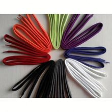 Fashionable 3mm elastic colorful shoe laces with stopper reflective no tie shoelaces