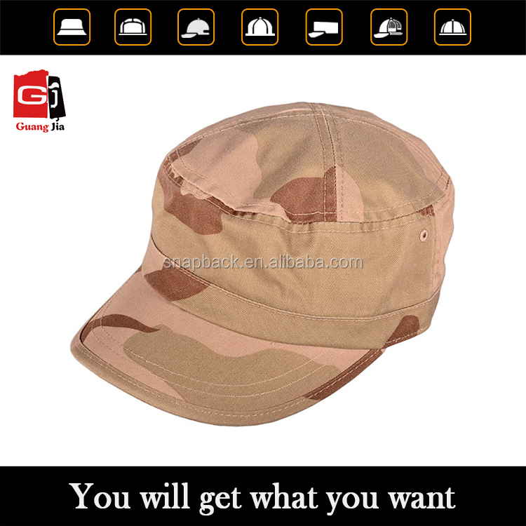 Wholesale enzyme washed cotton desert camo german military caps