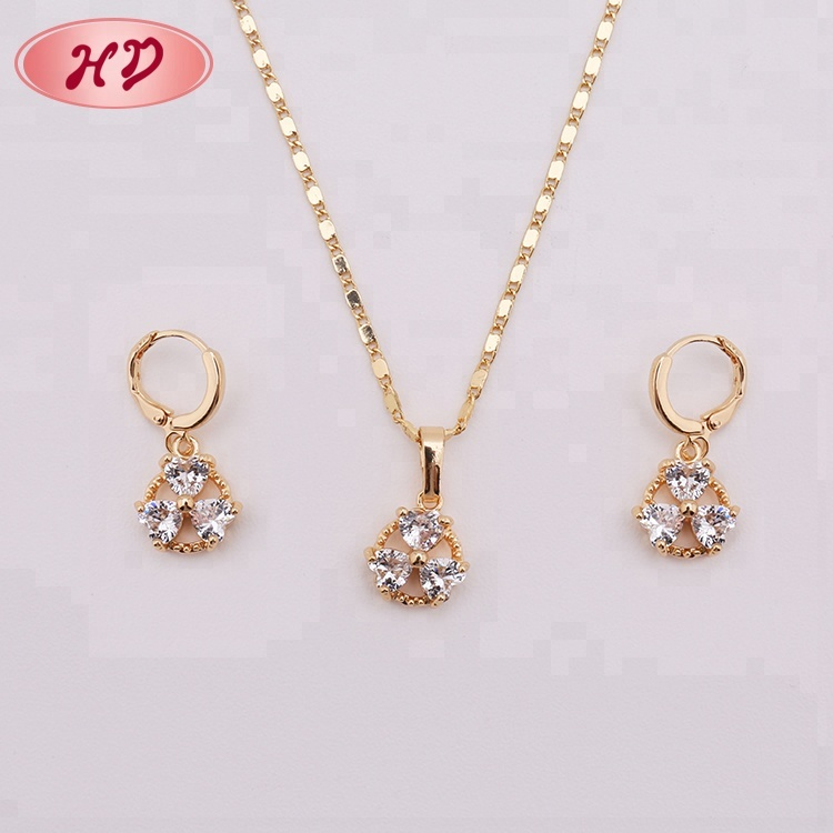 New Nice Earrings And Necklaces India 1 Gram Gold Jewellery Product On Alibaba