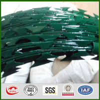 low price concertina PVC razor barbed wire-ISO9001:2008 certificate