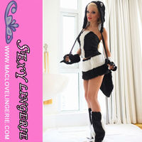 ML5252 Brazil Carnival Black And White Skunk Sexy Animal Costumes