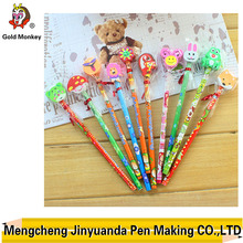 cute pencil with cartoon eraser for kids