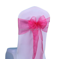 Organza Chair Sashes Crystal Organza Fabric Chair Cover Sashes Bow Ties for Wedding Decoration Party Event Accessories Wholesale