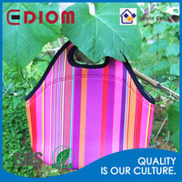 picnic cooler bag, outdoor food warmer Sublimation Imprint neoprene picnic cooler bag for girls
