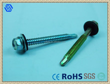 Hex Self Drilling Screw With Plastic Washer Self Drilling Screw For Roofs
