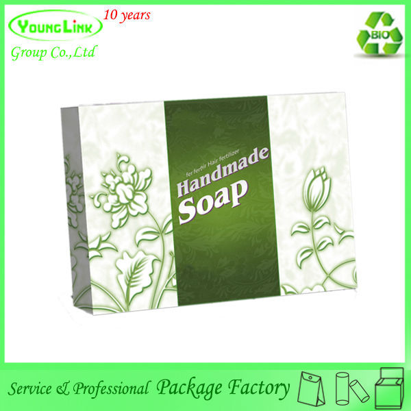 Customized handmade natural eco friendly soap box packaging