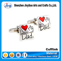promotional daddy gifts cute lovely cufflinks with love