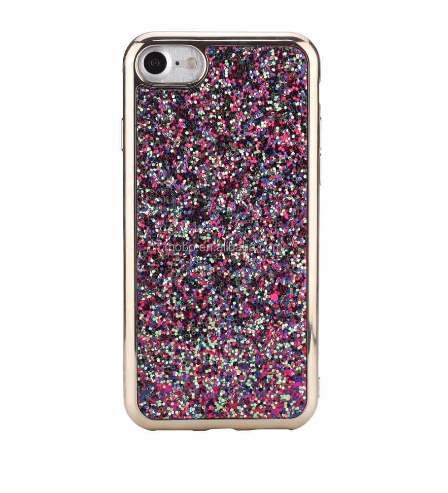 Bling and shinny super slim electroplating phone case for iPhone 7