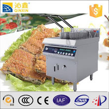 Industrial electric fryer machine for crispy fried chicken/fryers with Double baskets induction fry machine