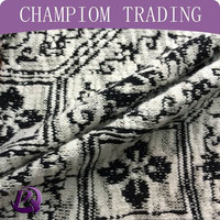 Champiom Textile 65/35 cotton polyester hacci jacquard fabric for woman sweater fabric