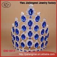 High Quality Festival Blue Crystal Pageant Tiaras And Crowns