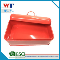 Kitchen shipping container,square metal storage bread bins