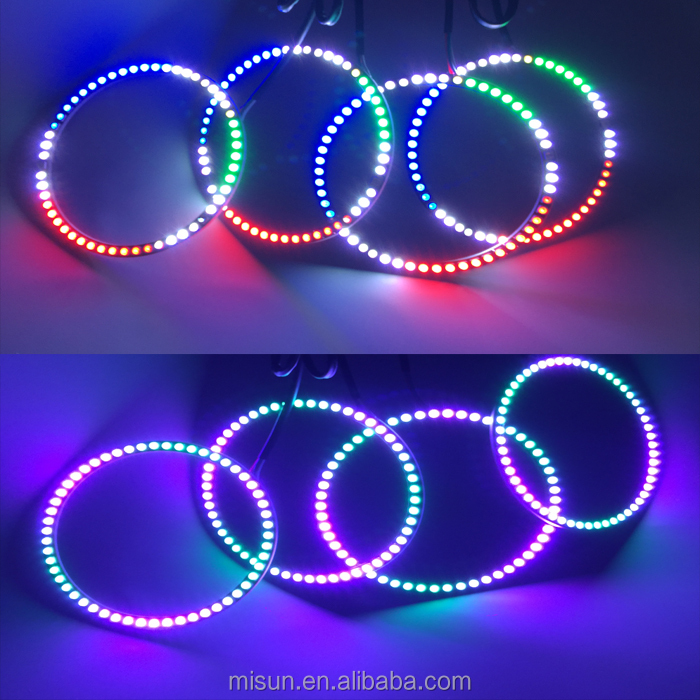 Xenon White LED High Power LED Halo Rings sequential led Angel Eyes Retrofit DIY