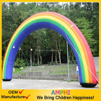2015 high quality rainbow inflatable entrance arches for sale