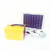 apple shape 12v small solar home system solar home light kit solar lantern with USB, FM radio, MP3