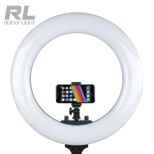ZD ring light 48W 3200-5600K battery powered make up led photography lightings for video shooting
