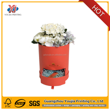 luxury round rose flower hat paper packaging box manufacturer