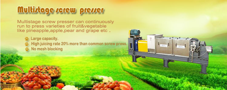 Optimal onion screw pressing machine