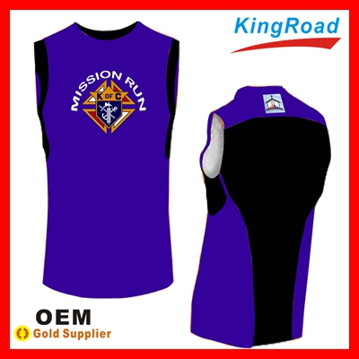2014 Wholesale custom fashion dry fit sublimation breathable mens tank top