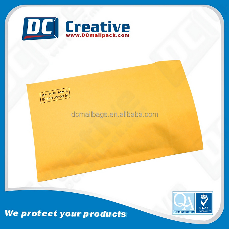 Low price Customized Gold Kraft bubble mailers eco-friendly recyclable /thickness padded envelope