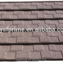stone tile / colorful stone coated metal roofing Shingle tile