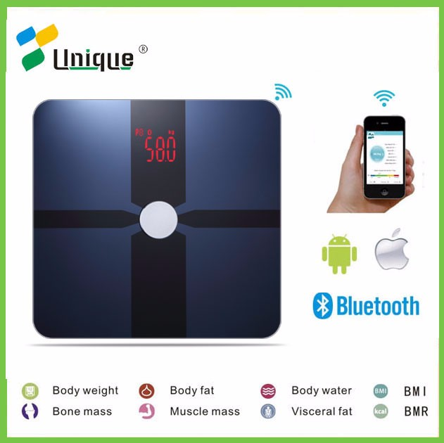 Hot Selling Original Factory 180kg Digital Bluetooth Body Fat Balance Scale with Cheaper Price and Body Tracking