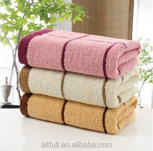 Fast air delivery china velour custom 100% cotton fabric yarn dyed bath towel