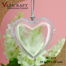 100% Food Grade Clear plastic Valentines Heart shaped Box with hinged Candy Container / Giftbox