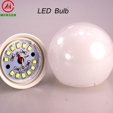 3w 5w 7w 9w 12w led light, e27 b22 base led light bulb, housing plastic aluminum parts led bulb lamp