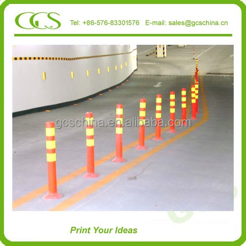 steel reflective road all in one street light traffic lane divider warning post