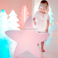 Outdoor color changing plastic glowing decorative star with led lights