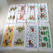 exotic trend cut pile with custom printing 100% cotton tea towel