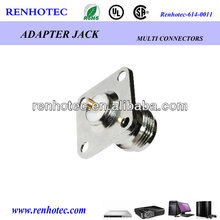 Threaded N female Chassis Mount Connector