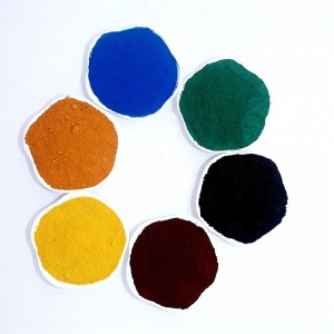 Color Concrete Inorganic Pigment Powder Iron Oxide Red Fe2O3 Pigment Price For Paving And Brick